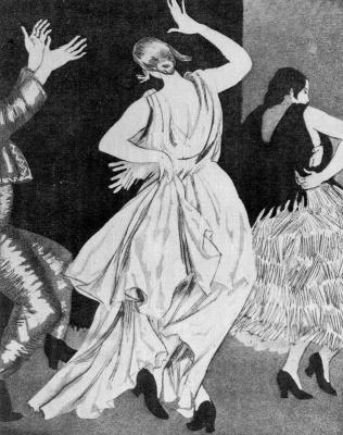 Laura Knight. Black and white dance