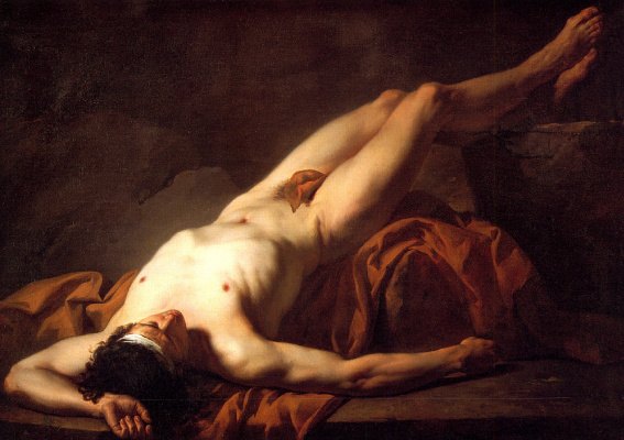 Jacques-Louis David. Reclining Nude