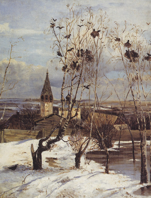 Alexey The Kondratyevich Savrasov. Rooks have arrived. Later repetition