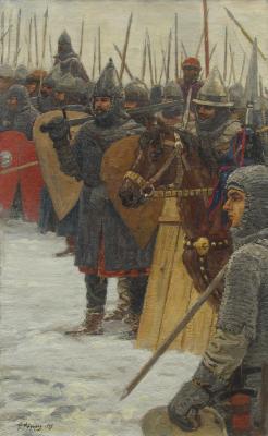 Федор Борисович Федоров. Перед битвой с крестоносцами на Чудском озере