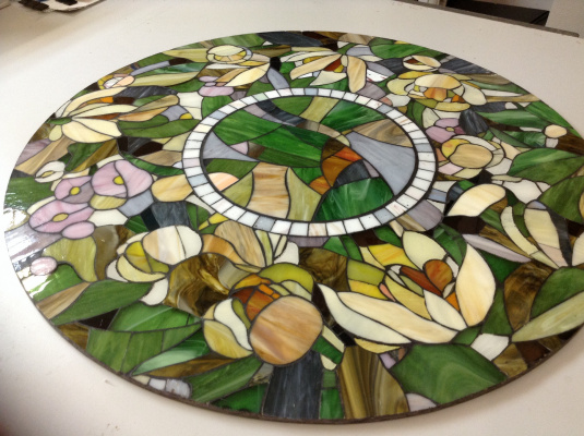 Constantine Socks. Stained glass table