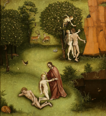 Lucas Cranach Senior Germany 1472 - 1553. Altar. The Last Judgment (according to Jerome Bosch))) left panel Paradise Picture gallery of old masters, Berlin detail