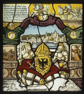 Каспар Штильхарт. Витраж с изображением города Констанца