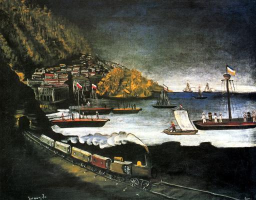 Niko Pirosmani (Pirosmanashvili). The Port Of Batumi