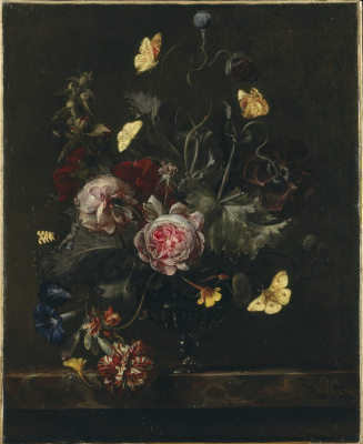 Otto Marceus van Scriec. A bouquet of flowers