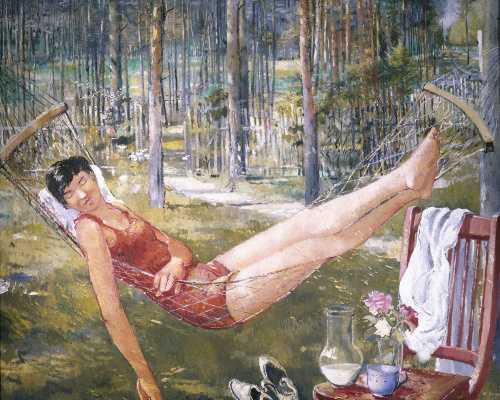 Yuri Ivanovich Pimenov. Woman in hammock