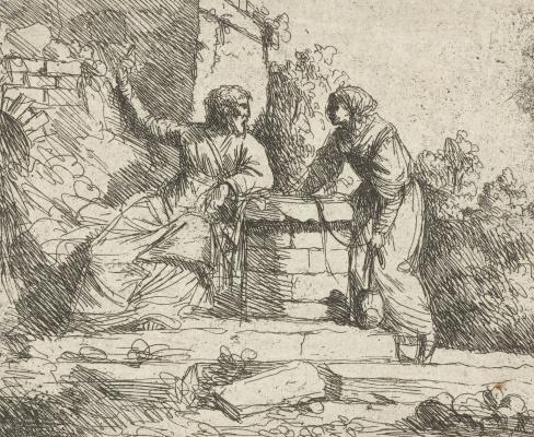 Jan Lievens. Christ and the Samaritan woman