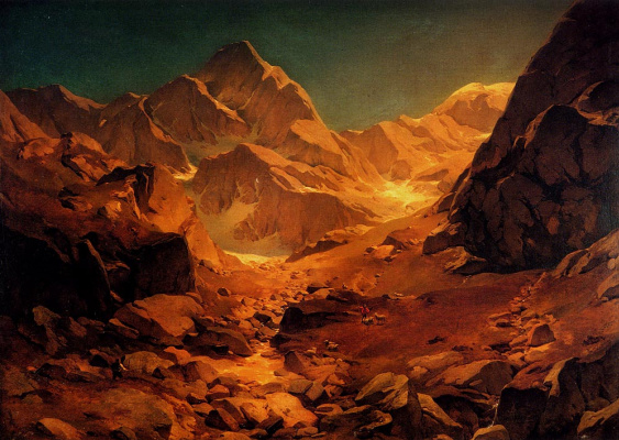 Oswald Achenbach. Mountain landscape
