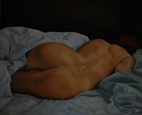 Renata Lefel. Reclining nude