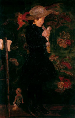 James Ensor. The lady in the hat