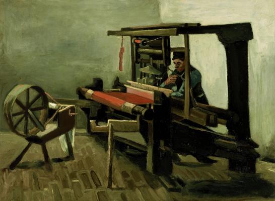 Vincent van Gogh. Weaver for the machine left side view