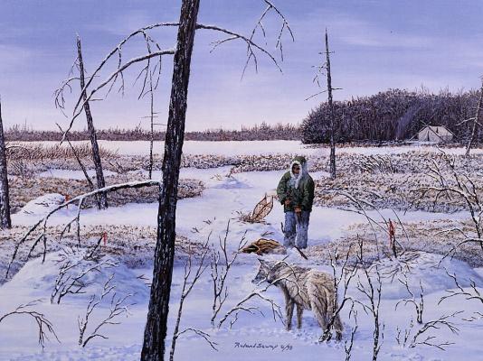 Роланд Севап. Ловушка линия с домашним волком