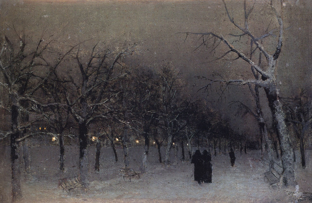 Isaac Levitan. Boulevard in winter