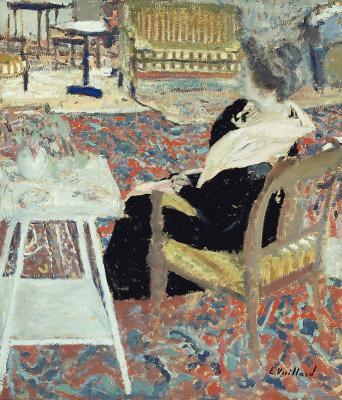 Jean Edouard Vuillard. Madame Arthur Fontaine in a pink shawl