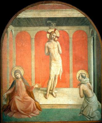 Фра Беато Анджелико. Бичевание Христа (Христос у столба). Фреска монастыря Сан Марко, Флоренция