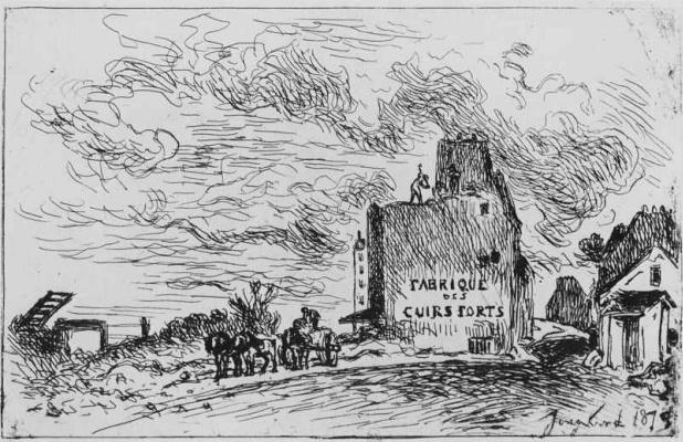 Ian Barthold Jongkinde. The end of the street, the franc-Bourgeois-Saint-Marcel