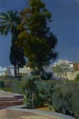 Joaquin Sorolla (Soroya). Area in the garden, the Alcazar in Seville