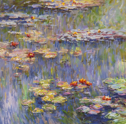 Savely Kamsky. Water lilies, N29, a copy of Claude Monet's painting