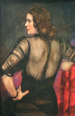 A woman's portrait.