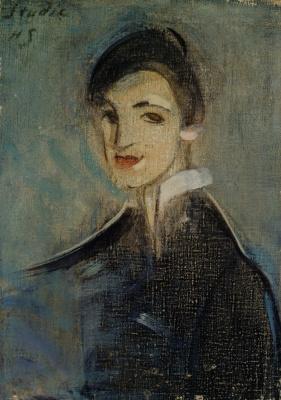 Helena Sophia Scherfbek. Singer in black