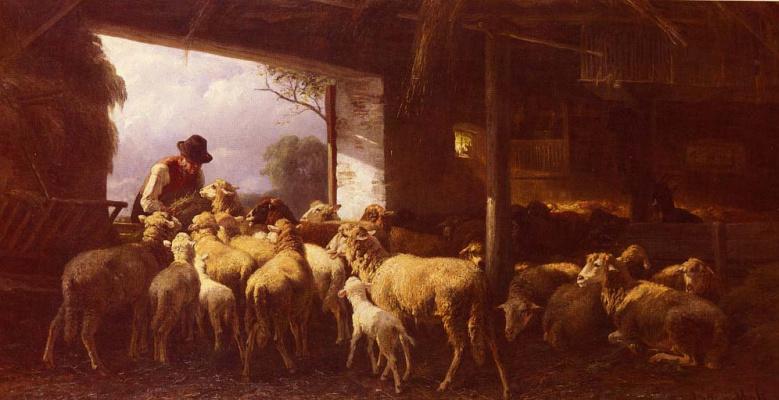 Кристиан Фридрих Мали. Кормление овец