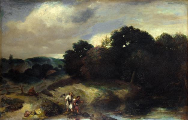 Ян Ливенс. Пейзаж с Тобиас и ангелом