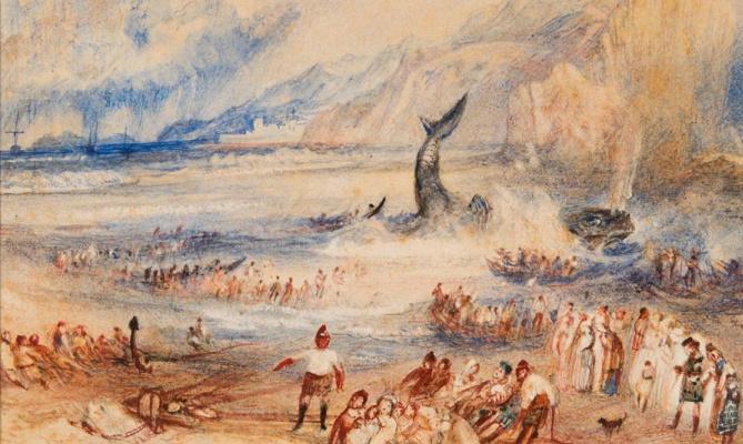 Joseph Mallord William Turner. Whale on the coast