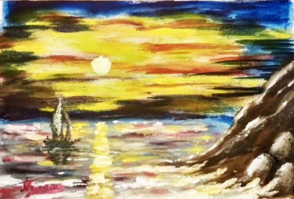 Андрей Куракин. Морской закат