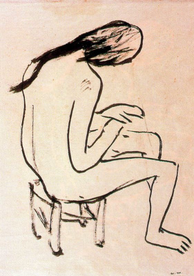 Пьер-Альбер Марке. Обнаженная девушка с опущенной головой