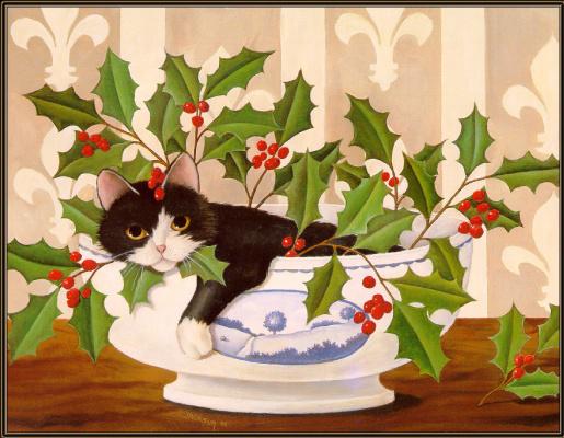 Диана Джексон. Кот в цветах