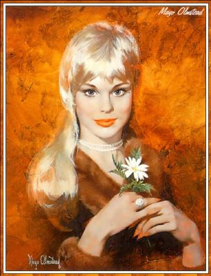Мейо Олмстед. Блондинка с ромашкой