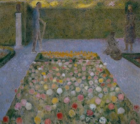 Figures in the garden