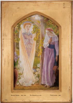Arthur Hughes. The Annunciation