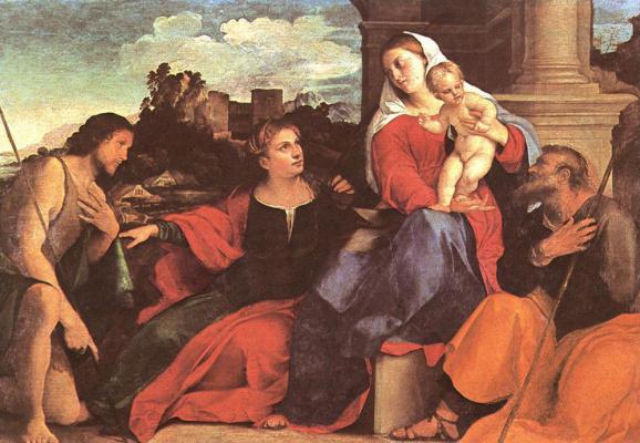 Джакомо Пальма. Мадонна с младенцем