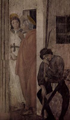 Филиппино Липпи. Освобождение св. Петра из темницы ангелом