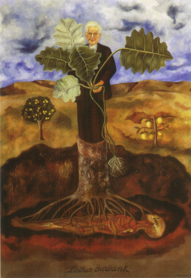 Frida Kahlo. Portrait of botanist Luther Burbank