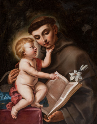 Элизабетта Сирани. Св. Антоний и младенец Иисус