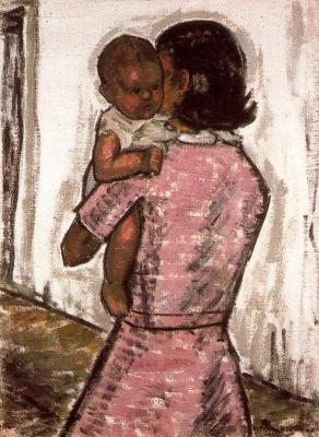 Годофредо Ортега Муньос. Девушка с ребенком на руках