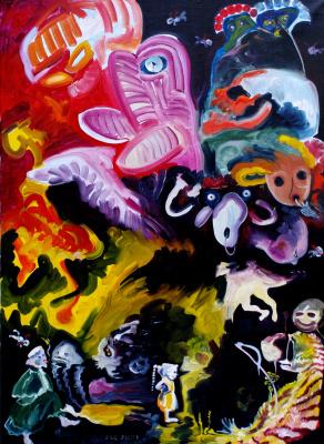 Alexander Ocher Kandinsky-DAE. Doctor, Death, Girl and Sheep Dolly