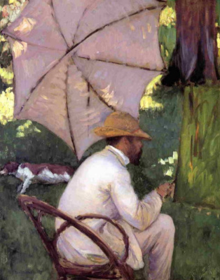 Gustave Caillebotte. Painter under the umbrella