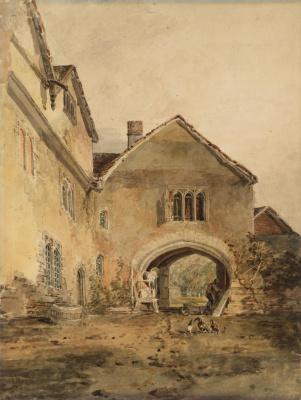 Joseph Mallord William Turner. Castle Allington, Kent gates