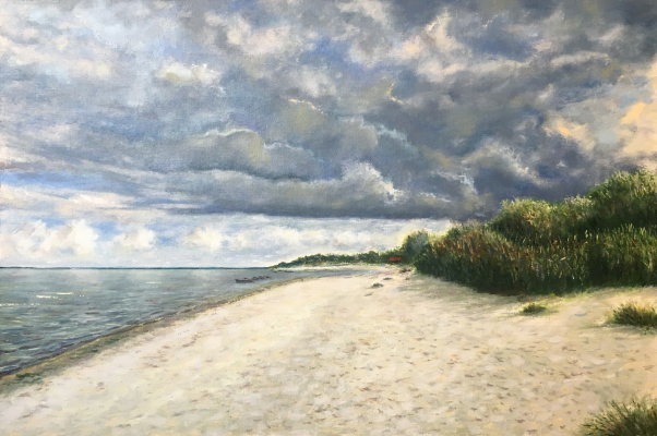 Albert Safiullin. Sea in Ragaciems (Before the rain)