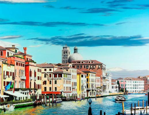 Raffaella Spence. Spring. The Grand Canal in Venice