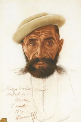 Александр Евгеньевич Яковлев. Портрет Мирзы Долик. 1931
