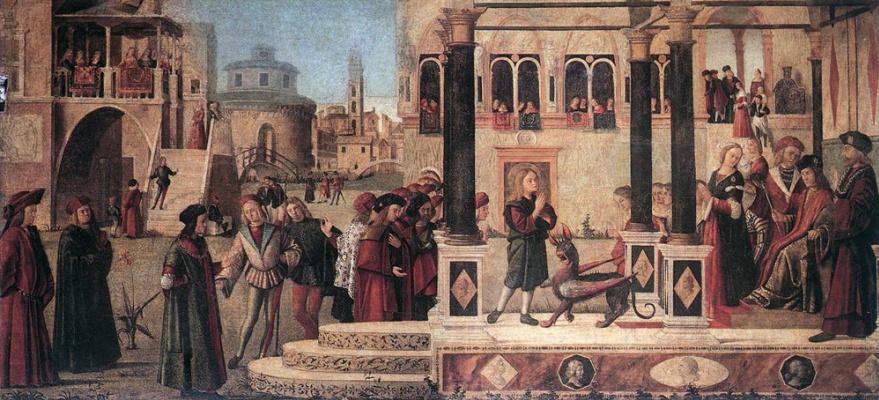 Vittore Carpaccio. The daughter of Emperor Gordian