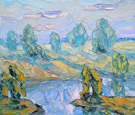 Алексей Гладких. Пейзаж с рекой