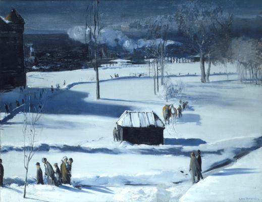 Джордж Уэсли Беллоуз. Синий снег, Бэттери-парк