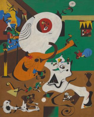 Joan Miro. Dutch interior I
