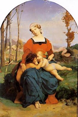 Жан-Леон Жером. Дева с младенцем и Иоанном