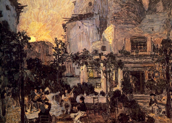 "Alexander Yakovlevich Golovin. The Tavern Of Lilas-Pasta. Design for Bizet's Opera ""Carmen"""